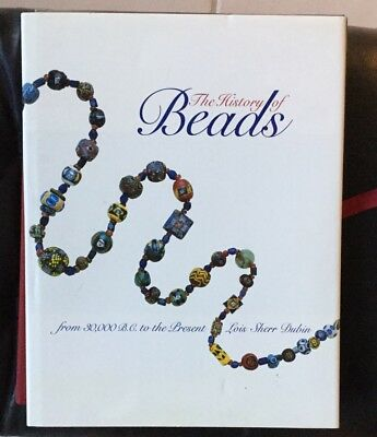 """BOOK THE HISTORY OF BEADS  LOUIS SHERR DUBIN TO THE PRESIDENT 12x9.25"""" 5lb 1987"""