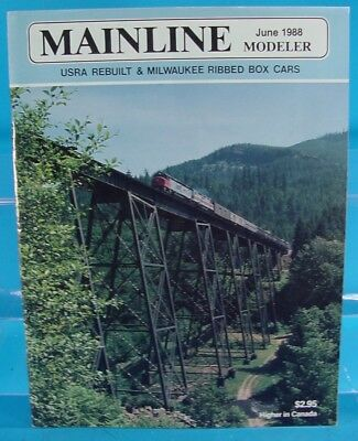 Mainline Modeler Magazine June 1988 W&le Depot, C&nw Express Car, Milw Box Cars