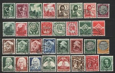 Germany Third Reich 1930's lot - Used VG/F  Nice lot many sets