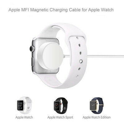 1M Magnetic Charger Charging Cable for iWatch 40/44mm Apple Watch Series 4 3 2 1