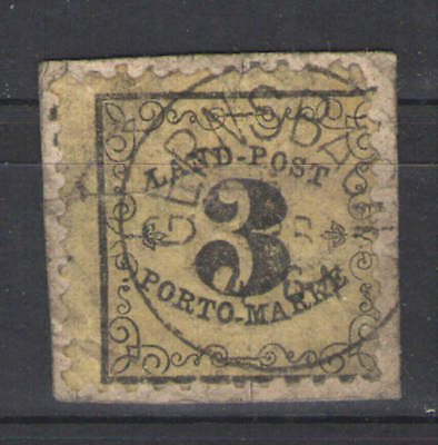German States - Baden 1862 Sc# LJ2 Used VG/F - Nice solid copy- scarce