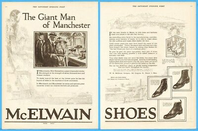 1920 W H McElwain Co Boston MA Manchester Merrimack New Hampshire mens shoes ad