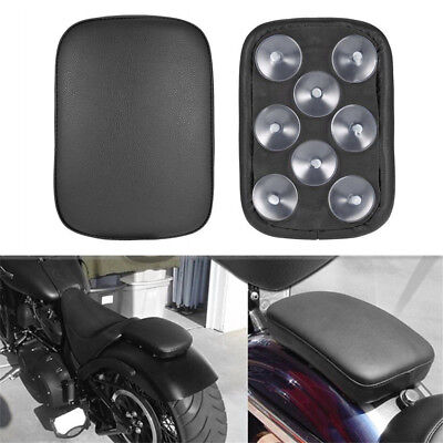 8 Suction Cup Motorcycle Pillion Seat Pad Rear Passenger Cushion For Harley
