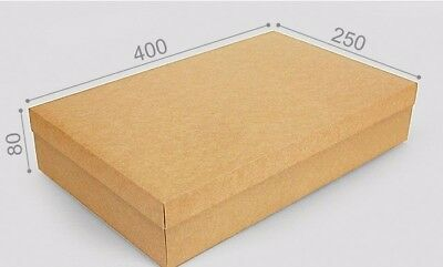 BROWN BOX 25cm X 40cm X 8cm CRAFT GIFT BOX WITH THE LID -GIFTS, RETAIL, TOYS.
