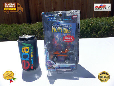 Ultimate Wolverine Die Cast Vehicle and Comic Book 2002 Marvel CVS exclusive