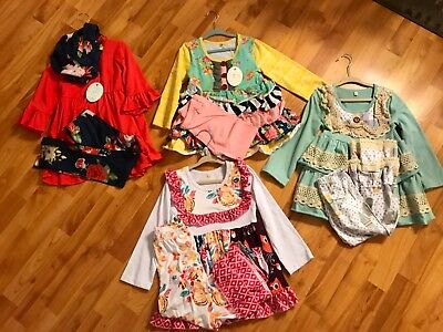 3T Girls NWT Boutique Clothing Lot- 4 Outfits