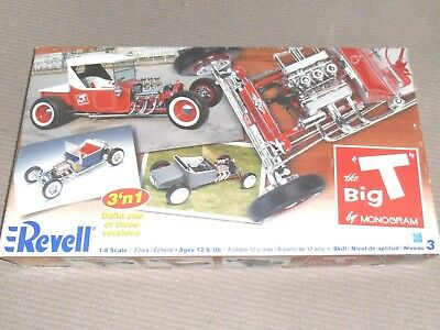 Big 1/8 Big T Hot Rod 3 Way Kit Monogram Ford Revell Complete As New May Post