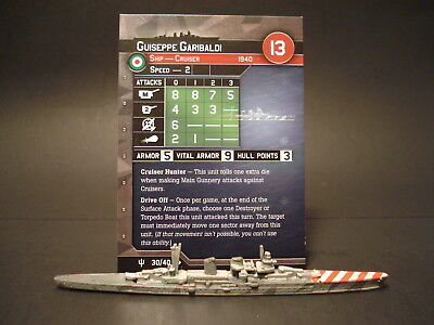 Axis and Allies War at Sea - 30/40 Guiseppe Garibaldi - Cruiser (UC) - IT(#49)