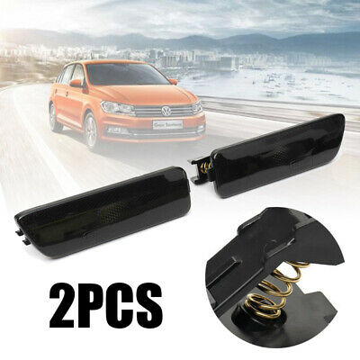 2x Front LH+RH Bumper Side Marker Light Smoke Black For VW Golf Jetta MK4 05-99