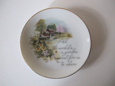 Lasting Treasures Retro Small Porcelain Hanging Plate - All the World's a Garden