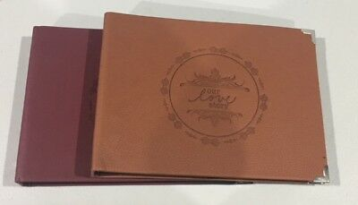 DIY BK 40Pgs PU Leather Our Love Story Photo Album Wedding Baby Guest Scrapbook
