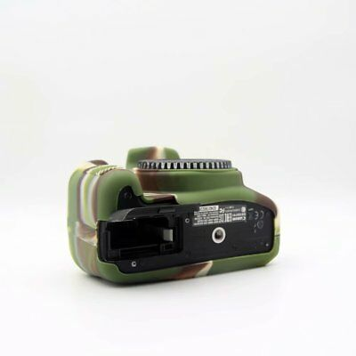 For Canon 1300D Silicone Rubber Protective Camera Body Cover Case bag Camouflage