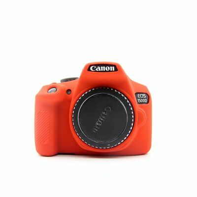 For Canon 1300D 1500D Silicone Rubber Protective Camera Body Cover Case Red