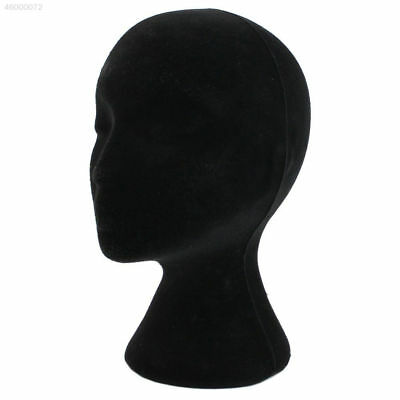 Female Mannequin Foam Head Model Head Mould Wigs Glasses Hat Display Stand Black