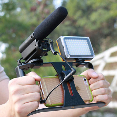 Video Cage Stabilizer Steady Handle Grip Rig For Mobile Phones Microphone