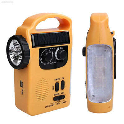 Solar Powered Wind Up Rechargeable Radio LED Flashlight Torch Light AM/FM Weat