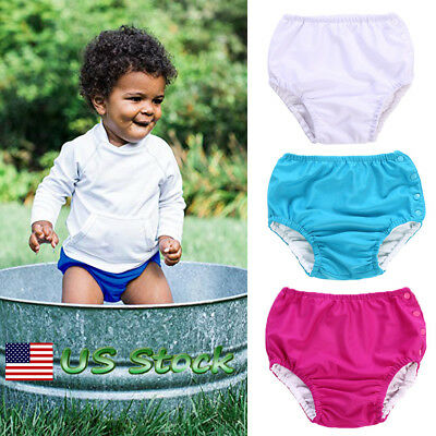 US Nappies Reusable Diaper Baby Toddler Boys Kids Girls Unisex Swimming Washable