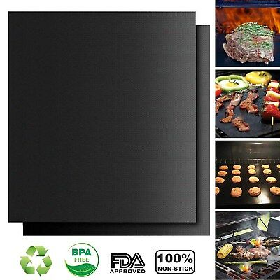 BBQ Non Stick Grill Mat Heavy Duty Nonstick Grilling Accessories for Home Cook