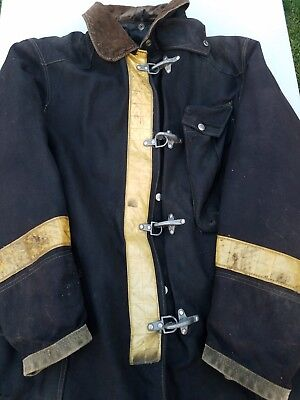 Vintage Globe MFG Fire Rescue, Police Turnout Bunker Heavy Duty Jacket Coat Rare