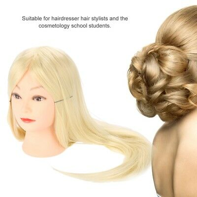 Hair Training Practice Head Mannequin Hairdressing Hair Styling Tool Wig Kit se