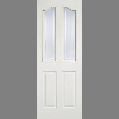 LPD Internal Victorian Style White Mayfair Moulded 2 Panel Glazed Doors