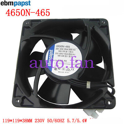 FOR ebmpapst 4650N-465 All-metal high-temperature fan 230V 19/18W 120*120*38MM