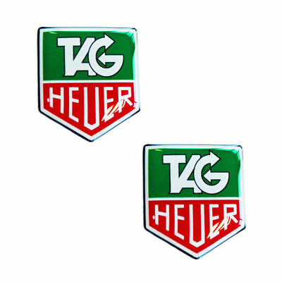 2 x Domed Stickers 3D Decals Tag Heuer Chronograph Car Racing Rally Auto KS 49