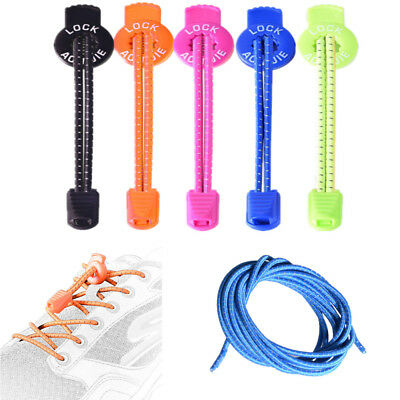 1Pair Elastic No Tie Locking Shoelaces Reflective Outdoors Sports Running Laces