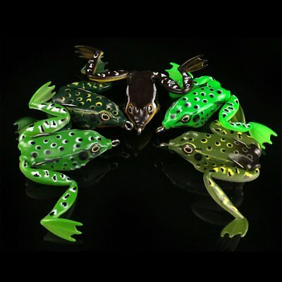 Small Plastic Frog Lure Snakehead Lure Topwater Simulation Frog Fishing Lure AU