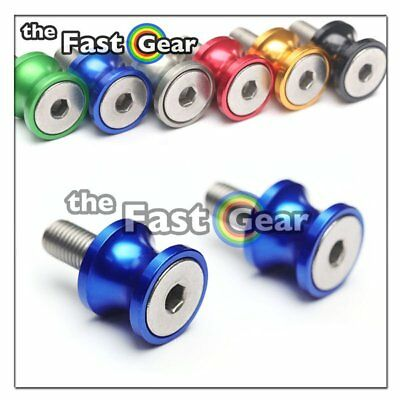CNC Blue Swingarm Spools Kit For Kawasaki ZX-6R 636 13-18 14 15 16 17