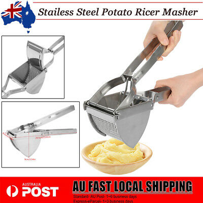Kitchen Food Potato Ricer Masher Fruit Juicer Press Stainless Steel Mash Tool AU
