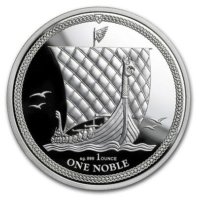 2 x 1oz silver Isle Of Man Noble Proof Capsuled Coin 2018 - ONLY 15,000!!!