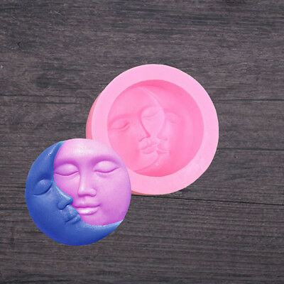 Sun & Moon Faces Silicone Soap Mold Craft Candy Cake Chocolate Cookie DIY Moulds