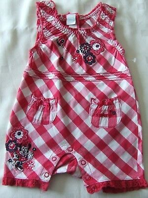 Disney @ Matalan Baby Girl Romper Size 0 - 6 Months, Excellent Condition