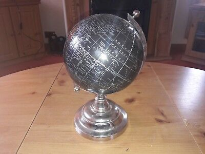 Vintage style desk globe with metal stand