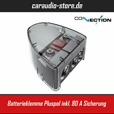 Audison Connection Best BBC 41PF - Batterieklemme Pluspol inkl. Sicherungshalter