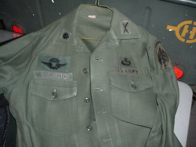 Original OG-107 shirt to a Special Forces LTC patch w/ Ethiopian wings