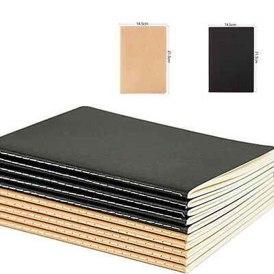 A5 Kraft Paper Series Softcover Notebooks Journals Diary Office Supplies