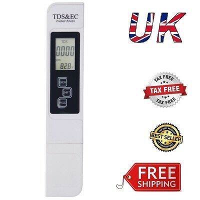 Handheld TDS ppm Meter Water Quality Tester 0-9999 ppm Measurement Range3-In-1