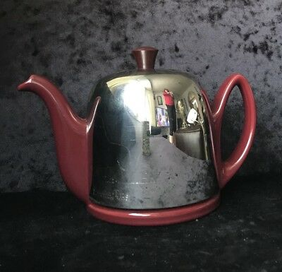 "Guy Degrenne French ""Salam"" Vintage Style Insulated Teapot - Built-In Strainer"