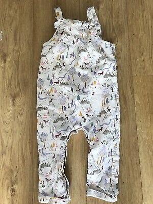 M&S Girls Dungarees. Size 1 1/2 To 2 Yrs. Brand New