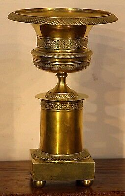 Large brass antique tazza ormolu bronze French Empire neoclassical urn Thomire