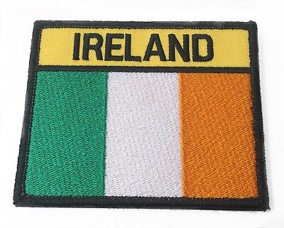 Ireland Flag Patch Large Embroidered Velcro Badge Airsoft Tactical Republic Army