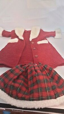 Outfits for the  doll, Christmas doll  jacket, Crochet