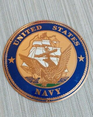 United States Navy Enamel  Plaque