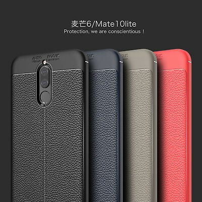 For Huawei Mate 10 Lite 20 Pro ShockProof Rubber Slim TPU Leather Case Cover
