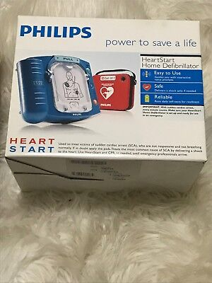 New Philips HeartStart Home AED Defibrillator with Red Case