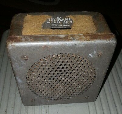 RARE VINTAGE Dukane 4b121 INTERCOM SPEAKER looks rough for parts only as is
