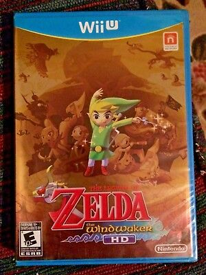 The Legend of Zelda: The Wind Waker HD (Wii U) Gold/First Print **New/Sealed**