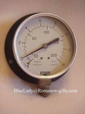ss Norway ss France Engine Room Steam Pressure Gauge  by Teltherm